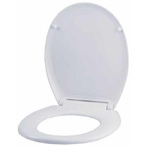Abattant WC | Duroplast | Blanc | 375x440x40 | Relax | 1 pièce | medial - Blanc