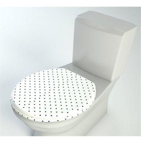 Abattant WC en bois compresse MDF Cuvette Double ralentisseur frein chute et Charnière metal