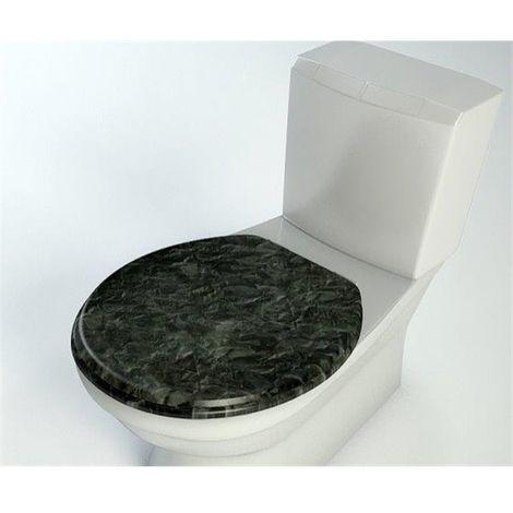 Abattant WC en bois compresse MDF Double frein chute ralentisseur et Charnière metal