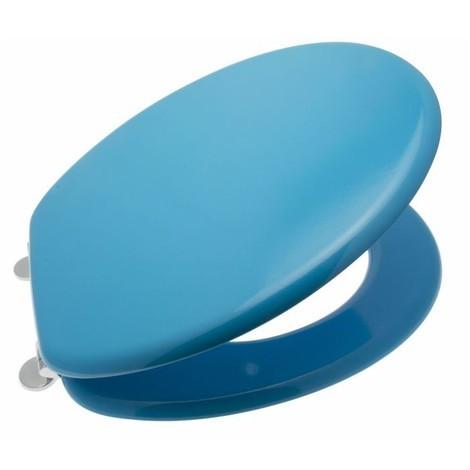 Abattant WC en MDF bleu D : 37.8 x 43.8 cm