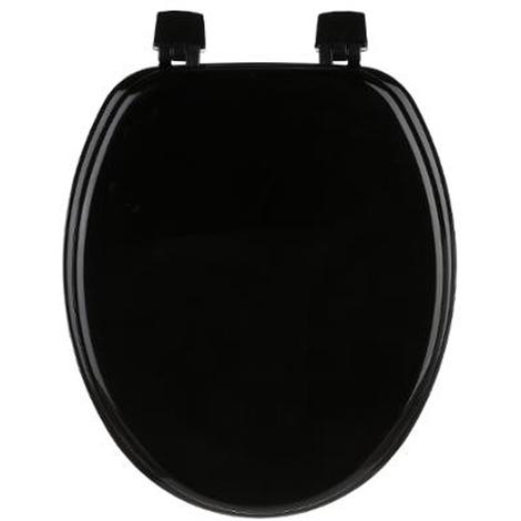 Abattant wc en MDF coloris noir - Dim : L 37 x P 43 cm - PEGANE -
