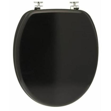 Abattant WC en MDF noir D : 37.8 x 43.8 cm