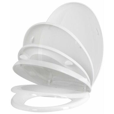 Abattant WC en thermoplastique à fermeture progressive et déclipsable KARMA - Blanc