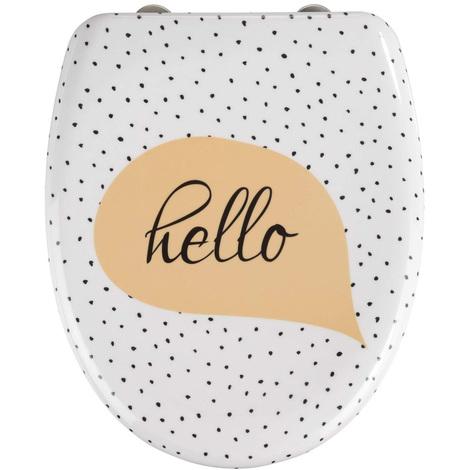 Abattant WC Hello en Duroplast - Dim : 38 x 45 x 10 cm -PEGANE-