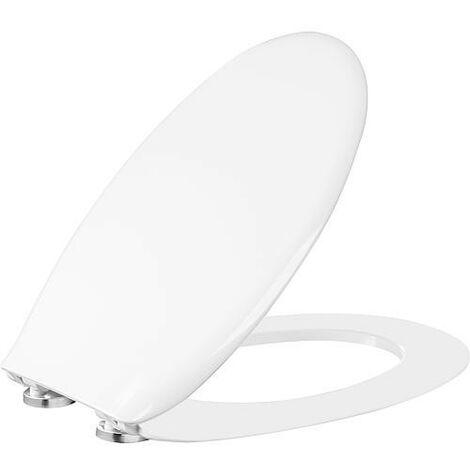 Abattant WC Jaguari blanc, softclose en duroplast, charniere en plastique/inox