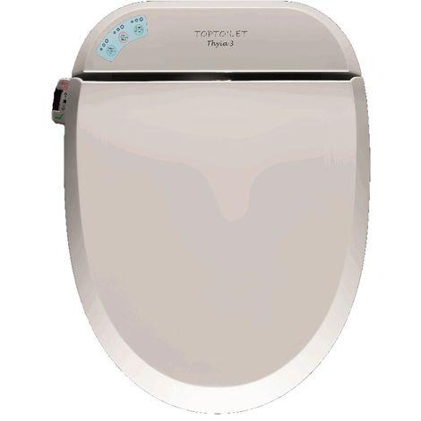 Abattant WC japonais Thyïa 3 TopToilet - Chauffant et séchant - Blanc