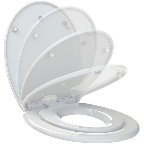 Abattant WC Kids - Réducteur intégré - Blanc - Blanc