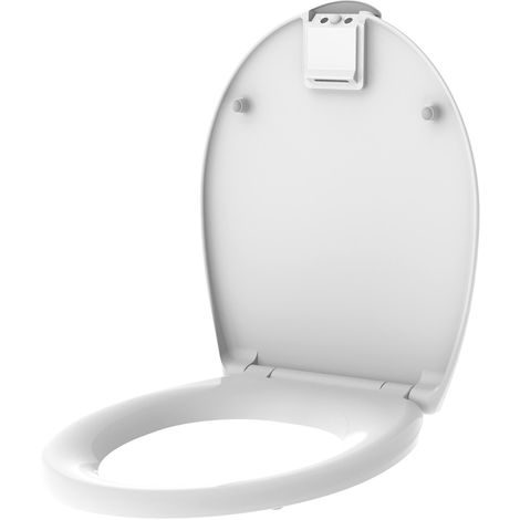Abattant WC lumineux Nighty - Thermodur - Blanc - Blanc