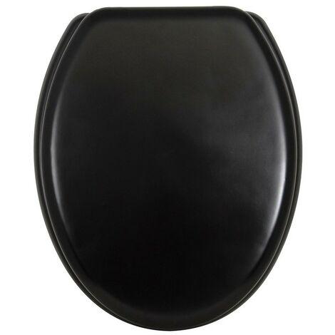 Abattant WC MDF charnière inox noir mat