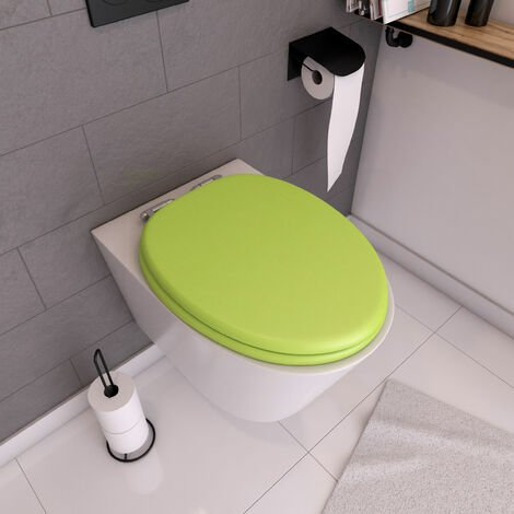 "main image of ""Abattant WC - MDF et Double frein de chute - SOFT GREEN - Vert anis"""