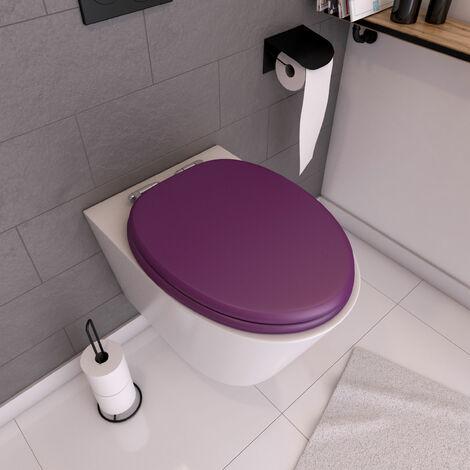Abattant WC - MDF et Double frein de chute - SOFT PURPLE - Violet