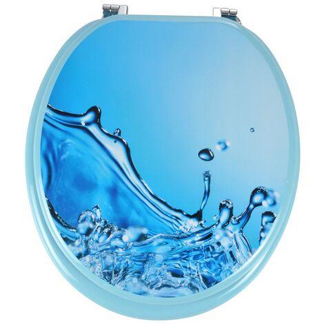 Abattant WC MDF Wave - Bleu