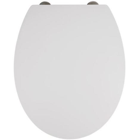Abattant WC Mora coloris blanc - Dim : 37 x 44 x 10 cm -PEGANE-