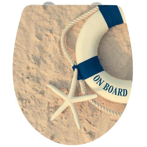 Abattant WC On Board duroplast - Dim : 39 x 46 cm -PEGANE-