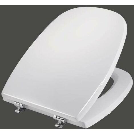 Abattant WC pour vases de marque Pozzi Ginori modèle SQUARE Niclam N38 | blanc