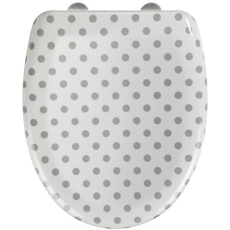 Abattant WC Punto en Duroplast - Dim : 38 x 45 cm -PEGANE-