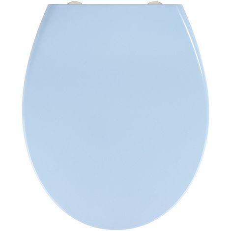 Abattant WC Samos - Abaissement automatique - Duroplastique - Bleu - Bleu clair