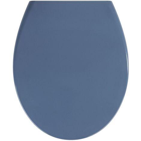 Abattant WC Samos - Abaissement automatique - Duroplastique - Bleu foncé - Bleu foncé