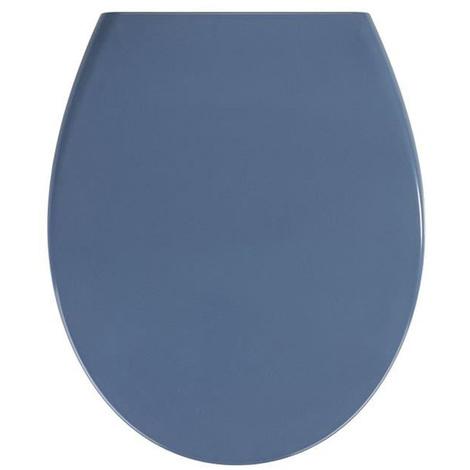 Abattant WC Samos Bleu Ardoise en Duroplast - Dim : 37 x 44 x 10 cm -PEGANE-