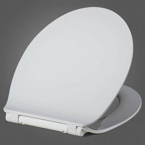 Abattant WC siège de toilette fast fix pour un nettoyage rapide charnière en acier inoxydable