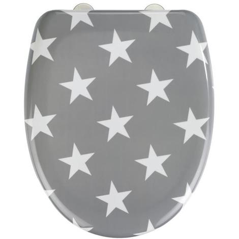 Abattant WC Stella gris en Duroplast - Dim : 38 x 45 cm -PEGANE-