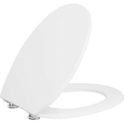 Abattant WC Tacutu blanc, softclose, en Duroplast charnieres en inox
