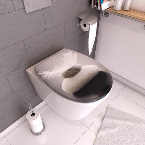 Abattant WC - Thermodur et Double frein de chute - PENCIL - Gris