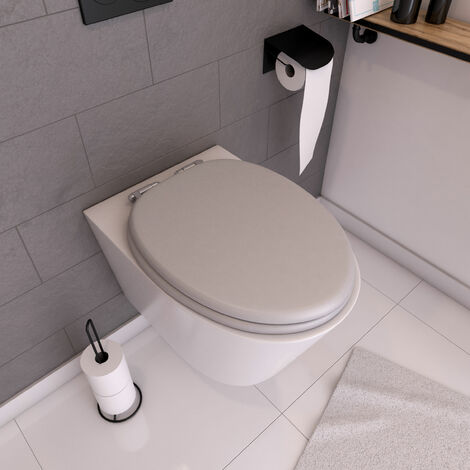 Abattant WC - Thermodur et Double frein de chute - SOFT GREY - gris perle