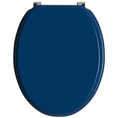 Abattants wc colors line bois unis Bleu unis - Dim : 37,5 X 46,5 cm -PEGANE-