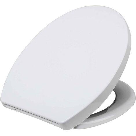 Abattants WC siège de toilette haut de gamme avec abaissement automatique plastique fast fix soft close