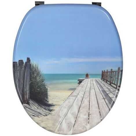 Abattants WC Trendy Line bois déco - abattant Trendy Line Holiday Beach - Wirquin - 20719122