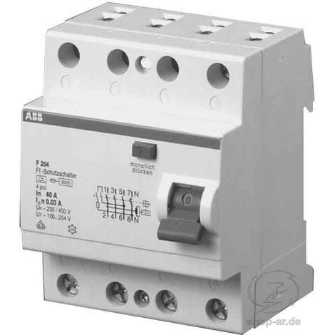 """ABB F204A-40/0,03L FI-Schutzschalter 4P,40A,30mA,N links-""""1000228"""""""