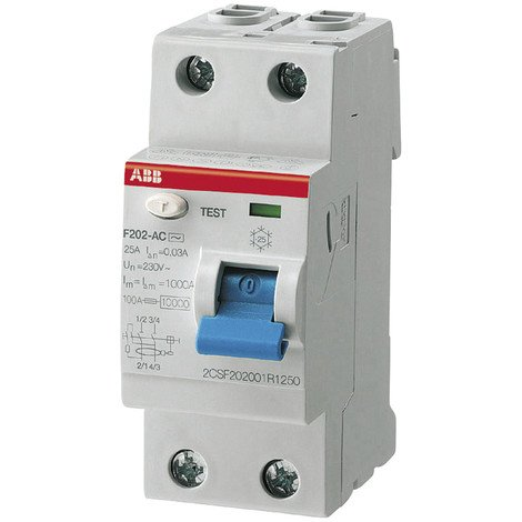 ABB FI-Schutzschalter pro M Compact F 202-A AP-R, 25 A, 0,03 A