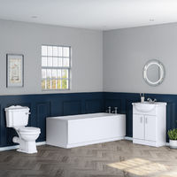 Abbey Traditional Toilet & 650mm Vanity Unit Bathroom Suite