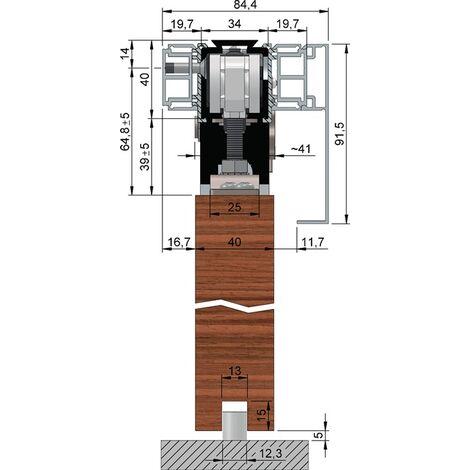 Abdeckkappenpaar Alu.VA Eff.elox.SmartClose B.84mm H.91,5mm HELM