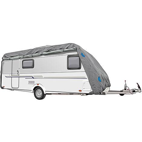 Wohnwagen Abdeck Plane Caravan Vlies Stoff Schutz Hülle imprägniert Größe M