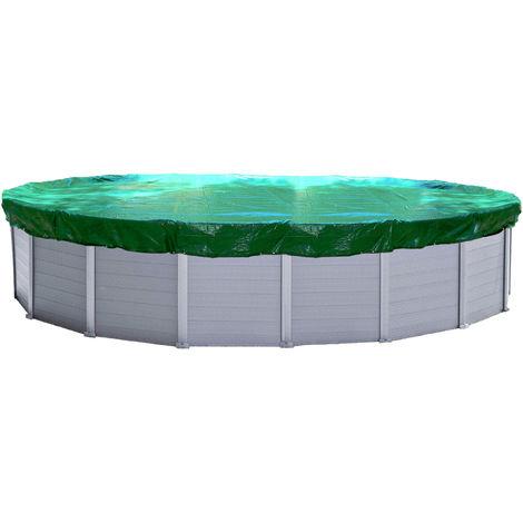 Abdeckplane Pool Oval Planenmaß 730x500cm für Pools 650x420 cm Winterabdeckplane Poolabdeckung 180g/m³
