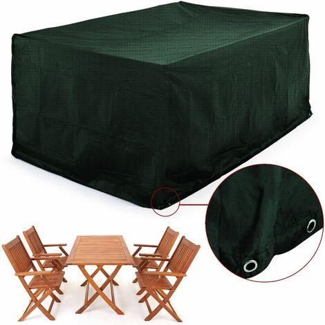 Abdeckung Sitzgruppe 122x112x98cm Wetterfest Schutzhülle PE Tisch Stuhl Garten Gartenmöbel Plane