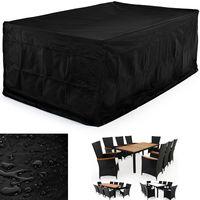 Abdeckung Sitzgruppe - Deuba - 308x138x89cm Schutzhülle 420 D Oxford - versiegelte Nähte - UV-, Kälte und Hitzebeständig
