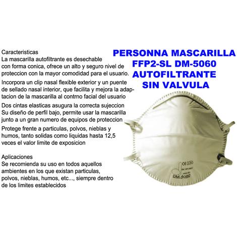 ABE MASCARILLA 5060=FFP2 NR D SIN VALVULA=EN149:2001