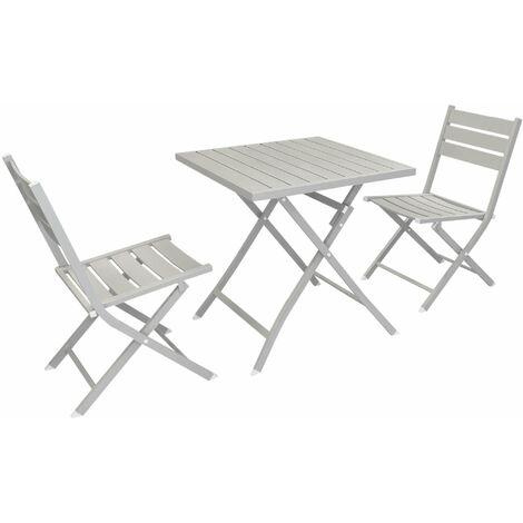 Tavoli Da Giardino In Alluminio Pieghevoli.Abelus Set Tavolo Da Giardino Pieghevole Salvaspazio In Alluminio 70 X 70 Compreso Di 2 Sedie In Alluminio