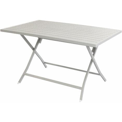 Tavoli Da Giardino In Alluminio Pieghevoli.Abelus Tavolo Da Giardino Pieghevole Salvaspazio In Alluminio 70 X 130