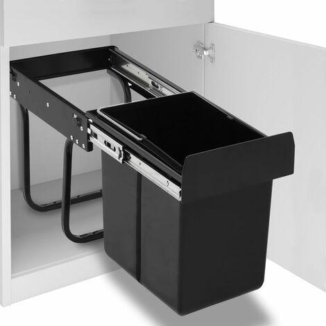 Abfallbehälter für Küchenschrank Ausziehbar Soft-Close 20 L