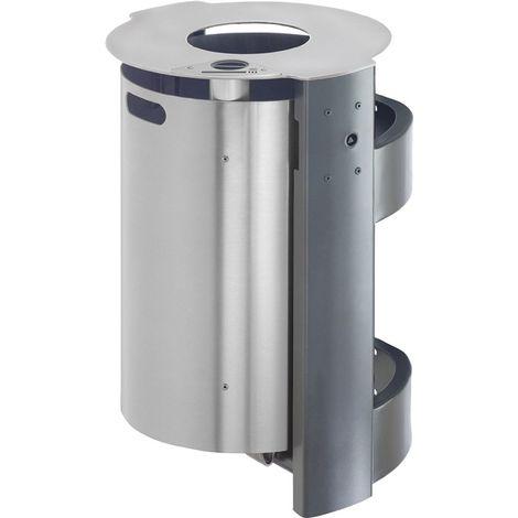 VAR GmbH Kombi-Ascher H880xB350xT350mm silber mit Dach und verz Inneneinsatz