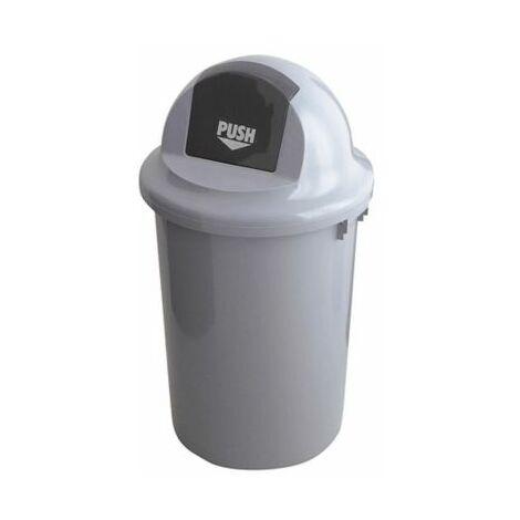 Abfallbehälter mit Pendeleinwurf | HxØ 81 x 45 cm | 60 Liter | Certeo
