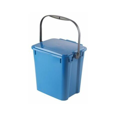 Abfallbehälter PLUS | Volumen 10 l | Blau | Certeo Biomülleimer Küche Biomüll
