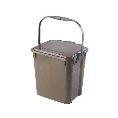 Abfallbehälter PLUS | Volumen 10 l | Braun | Certeo Biomülleimer Küche Biomüll
