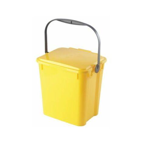 Abfallbehälter PLUS | Volumen 10 l | Gelb | Certeo Biomülleimer Küche Biomüll