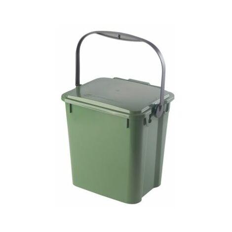 Abfallbehälter PLUS | Volumen 10 l | Grün | Certeo Biomülleimer Küche Biomüll
