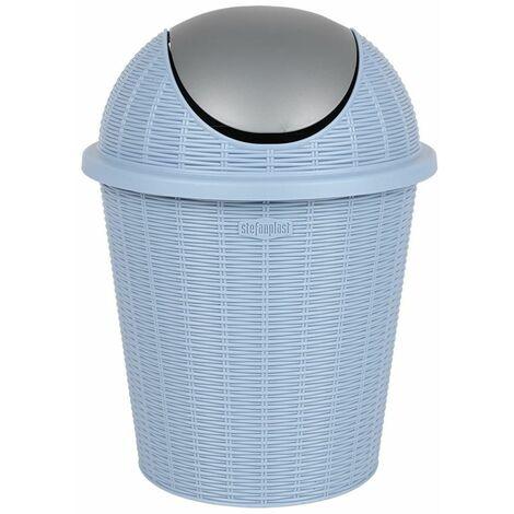Abfalleimer hellblau 10L mit Schwingdeckel Mülleimer Papierkorb Abfallsammler